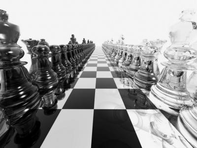 obrázek k aktivitě Papírové šachy - bílí